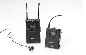 SONYワイヤレスマイク URX-P2/B2